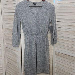 A.N.A Heather Grey Fall 3/4 Sleeve Dress